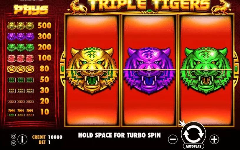 เพลย์ไลน์เกมสล็อตสามเสือ
